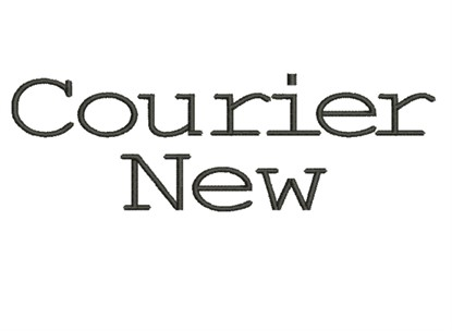 Picture of Courier New Alphabet